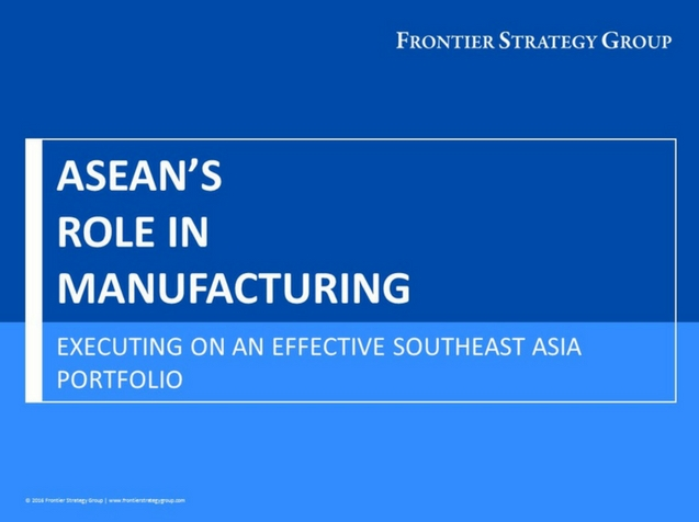 ASEAN's Role in Manufacturing