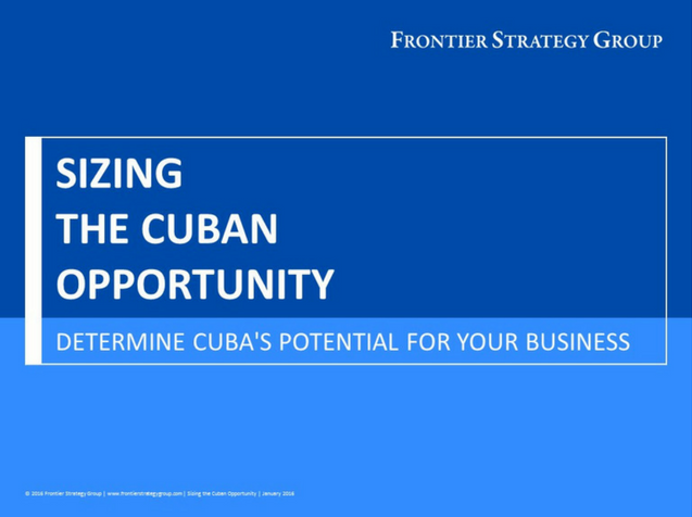 Sizing the Cuban Opportunity