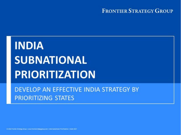 India Subnational Prioritization